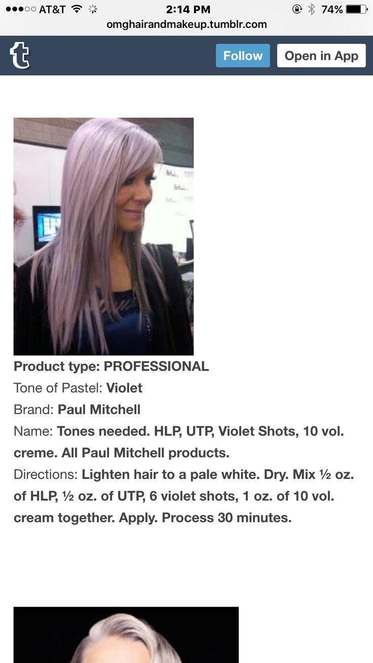 Lavender hair formula: Paul Mitchell