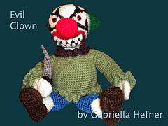 Ravelry: Amigurumi Pattern Evil Clown / Amigurumi Anleitung Böser Clown Pattern Evil Clown pattern by Gabriella Hefner