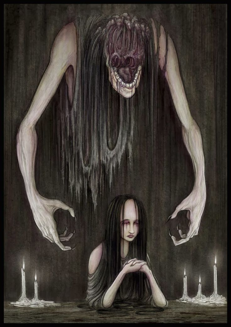 How I visualize depression... (artwork by James Flaxman)