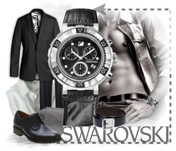 """For Men With Style...Swarovski"" by keti-lady ❤ liked on Polyvore"