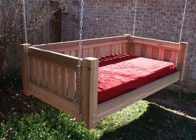 Brand New Cedar Victorian Daybed Swing Twin Mattress Size Swinging Bed Swings | eBay
