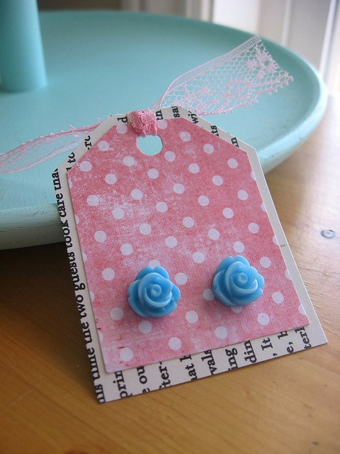 Buy a multi pack of earrings and make cards as gifts