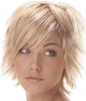 Simple Hairstyle For Thin Short Hair : The 12 best images about hairstyles on pinterest short bangs