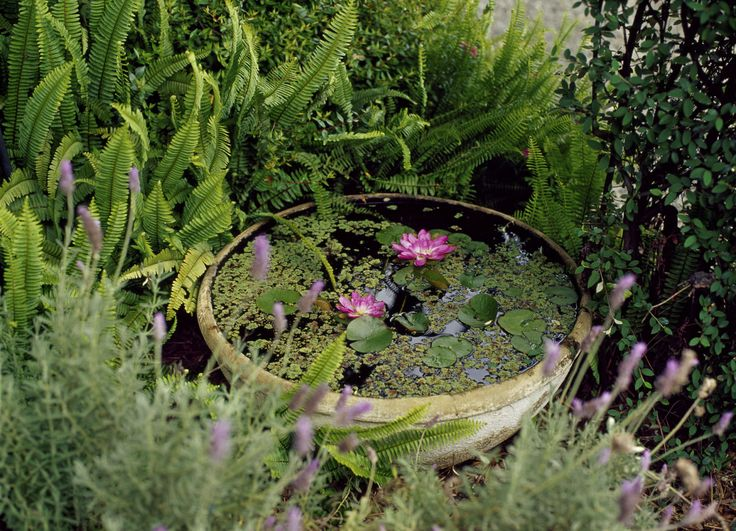 The simplest way to make an outdoor water feature