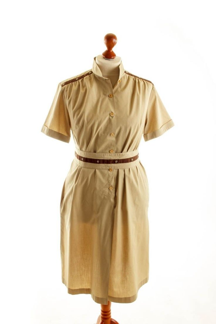 Kleid orange beige