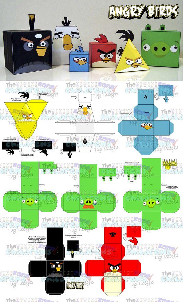 Invitaciones Angry Birds-mega Paquete Fiesta Angry Birds - $ 200.00 en…