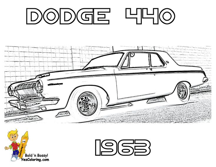 1963 dodge 440 car colouring pics at yescoloring