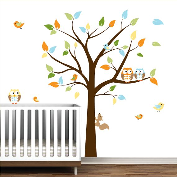 Kids wall decals Baby decals nursery decals Tree by Modernwalls
