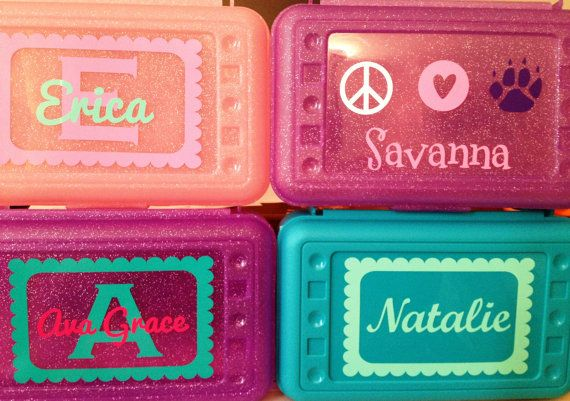 Personalized Pencil Box by SweetSerendipityShop on Etsy, $6.00