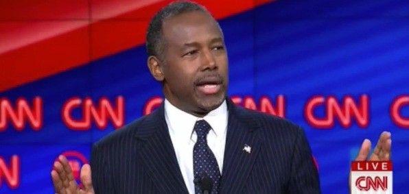 Dr. Ben Carson at the CNN Republican primary debate in Las Vegas Dec. 15, 2015 (Screenshot CNN broadcast)