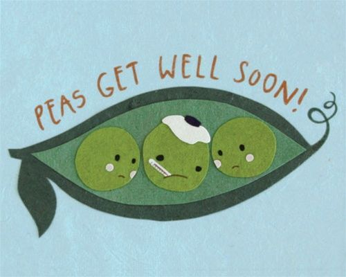 Peas Get Well Card