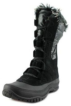 The North Face Nuptse Purna Women Round Toe Suede Black Winter Boot.