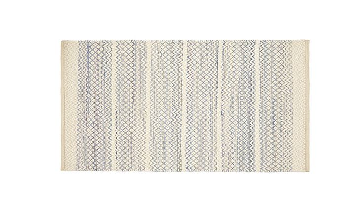Monoqi Teppiche 80x150 Usva Rug - Blue - Recycled Cotton, Polyester By