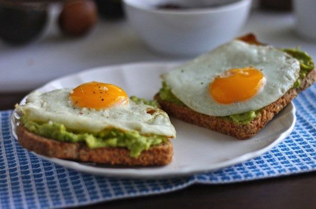 50 Fast and Easy Breakfast Ideas  Avocado Toast with Egg: Avocado is a superfood, it's creamy and delicious and will help to power you through the day. Not to mention all the health benefits of an egg. (via The Corner Kitchen Blog)