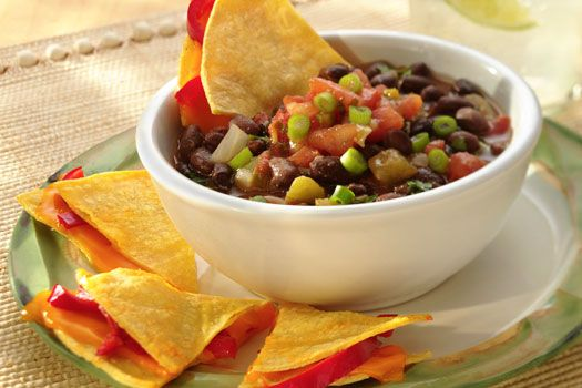 Cuban-Style Black Beans with Cheese Triangles | Recipe | Cheese ...