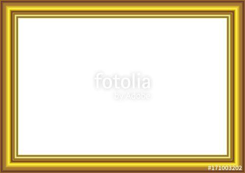 Vector:  Gold Frame