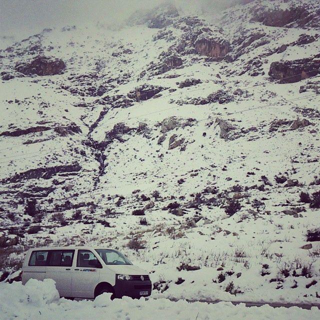 #Wintertime at #Rethymno! #Snowday #Mountain  #Crete   Photo credits: @nik_mauros