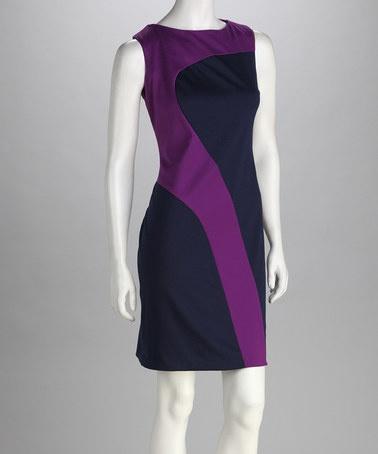 Shelby & Palmer Cerese & Navy Swerve Dress by Jemma Apparel and Shelby & Palmer