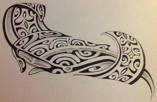 Modèle de Raie Manta pour Tattoo de Dessin Maori Polynésie