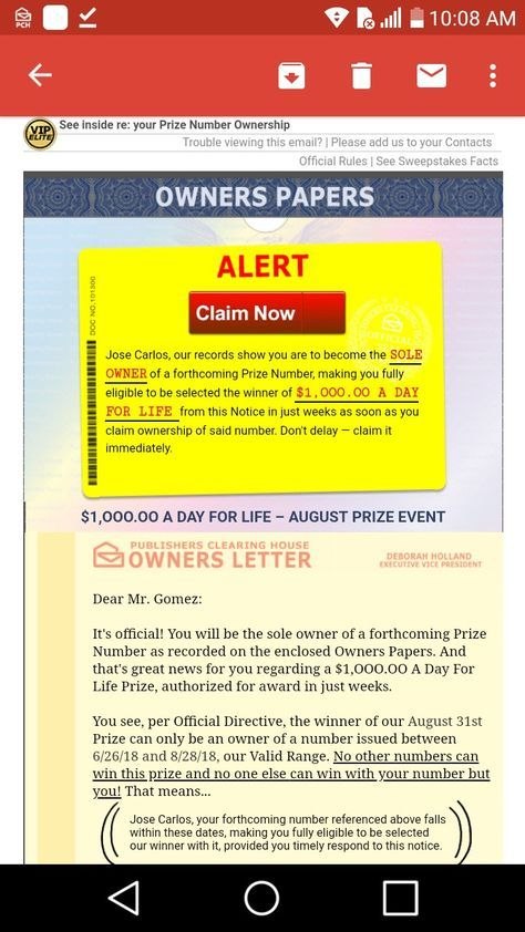 Pch I Jcg Claim Publisherscla CLAIM SUPERPRIZ… | added to