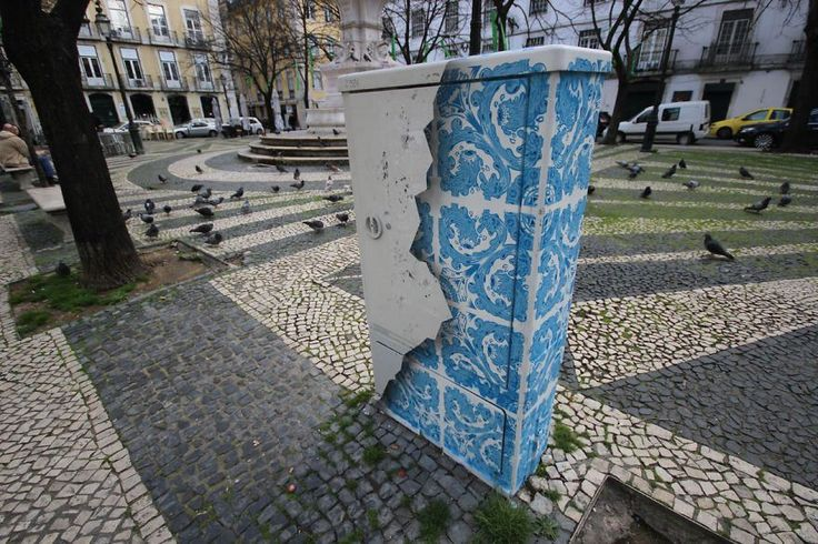 To highlight the history of his home country, Portuguese artist Diogo Machado creates street art inspired by traditional Portuguese Azulejo tilework. He creates intricate patterns, in the tradition...