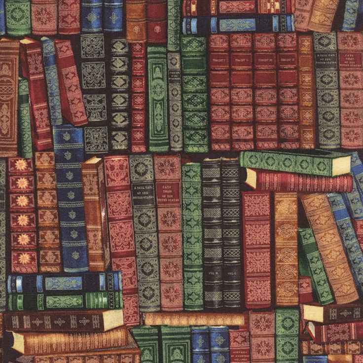 New - Stacked Books Library - Timeless Treasures - 1 yard - More Available by BywaterFabric on Etsy