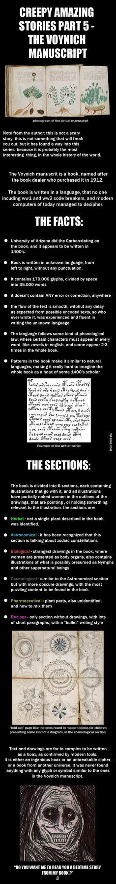 Creepy Amazing Stories - Voynich Manusript