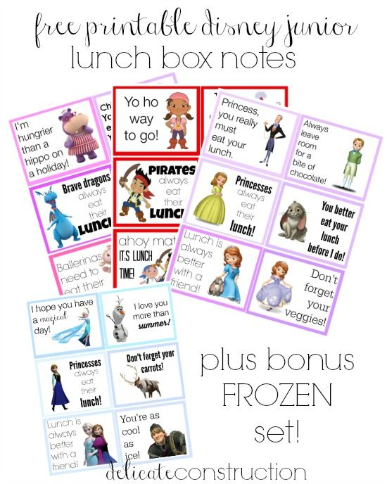 Disney Lunch Box Notes: Back to School