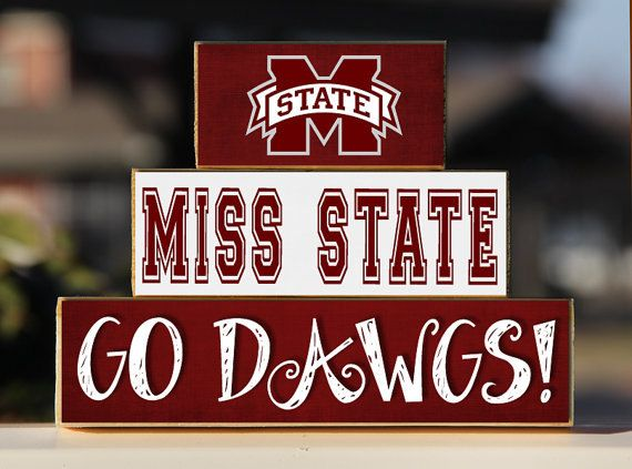 Mississippi State University Go Dawgs  Trio Wood by LegacyDecor, $20.00