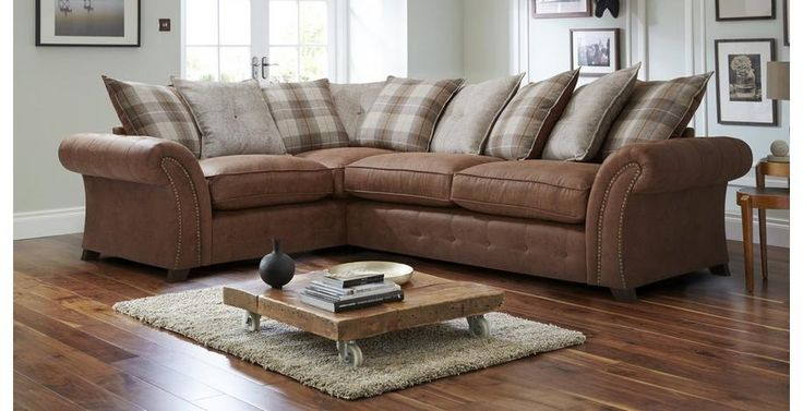 Woodland Right Hand Facing 3 Seater Pillow Back Corner Sofa  Oakland | DFS