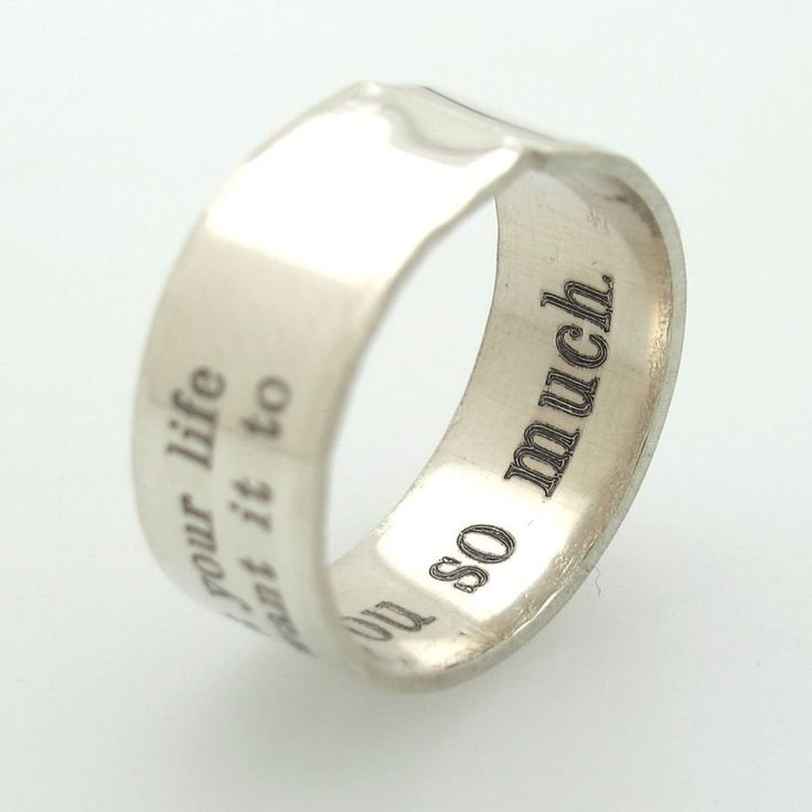 personalize INSIDE ENGRAVED RING for men custom engraved thumb ring sterling silver couple promise ring engrave inside hidden engrave ring