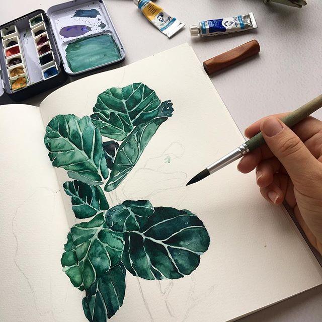 watercolor leaves #art #illustration #maxgoodz #florist #sketchbook