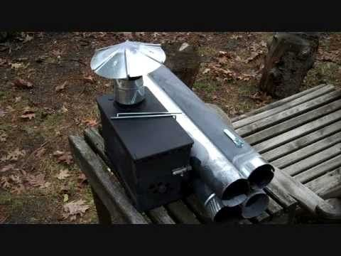 DIY Tent Stove from a surplus ammo can. Great design!