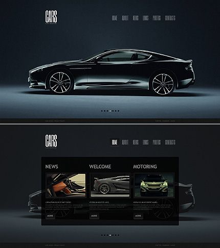 car moto cms html template cars magazines and website template. Black Bedroom Furniture Sets. Home Design Ideas