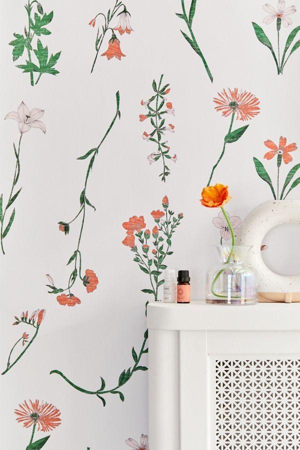 Georgina Floral Removable Wallpaper Removable Wallpaper Wallpaper Accent Wall Stick On Wallpaper
