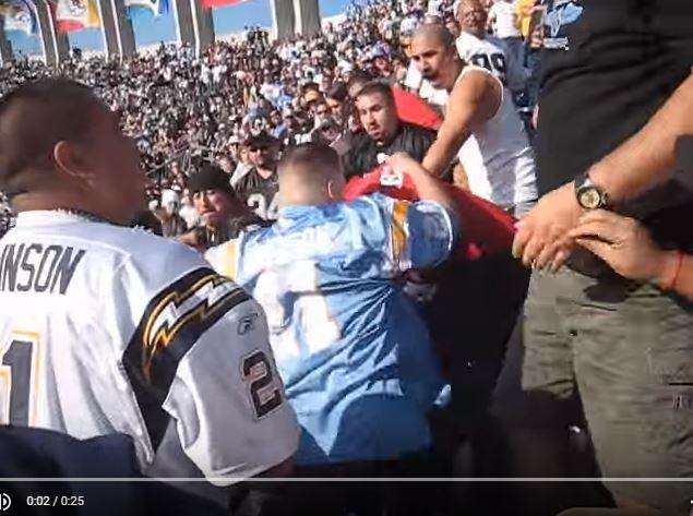Whoa NFL Fan Fight: Raiders vs. Chargers