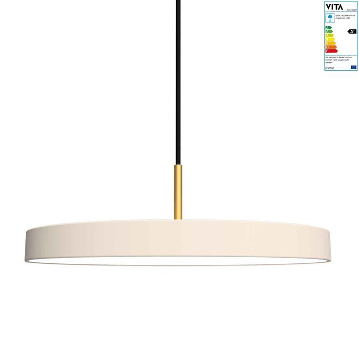 VITA copenhagen ApS Vita - Asteria Pendelleuchte LED, pearl Créme H:14