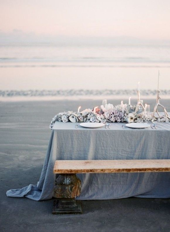 Relaxing blue wedding table #wedding #decoration