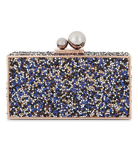SOPHIA WEBSTER Clara Embellished Clutch Bag. #sophiawebster #bags #clutch #crystal #hand bags #