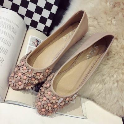 Vrouw dames schoenen flats 2016 nieuwe mode instappers comfortabele platte schoenen bloem teen hoofd bootschoenen ondiepe 41 in product details  van vrouwen flats op AliExpress.com | Alibaba Groep
