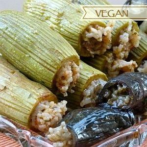 Gefüllte Zucchini und Auberginen - Maschi Kuusa wa Betingen Ägyptische Rezepte Originalquelle: http://aegyptischkochen.blogspot.com