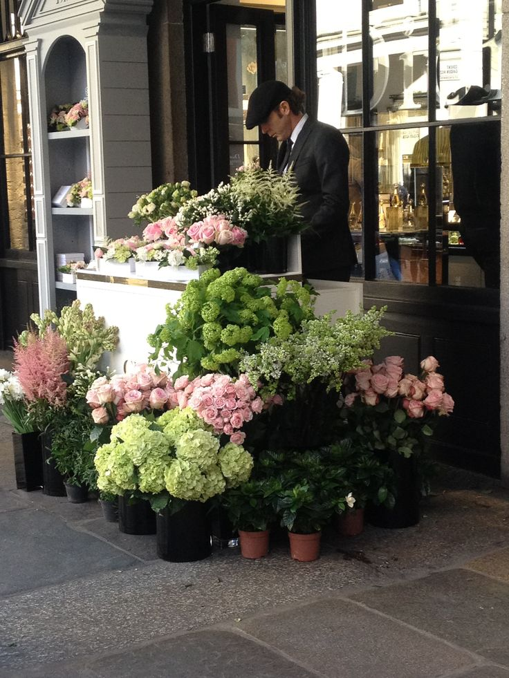 Stunning flowers outside Dior shop in Covent Garden, London