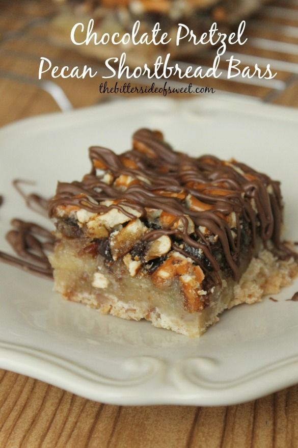 Chocolate Pretzel Pecan Shortbread Bars | Recipe ...