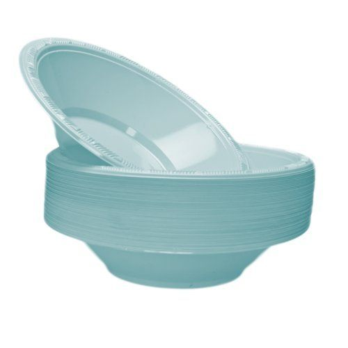 Light Blue 12 oz. Plastic Bowls - 50 Count by Kingzak. $8.49. Light Blue 12 oz. Plastic Bowls - 50 Count Make your special event a success! These extra strong Light Blue plastic bowls will complement all your event decorations. Light Blue is the perfect addition to your party. A fun and easy way to add style to your event, this package contains 50 Light Blue 12 oz. Plastic bowls. Look for matching tableware, decorations, and more (sold separately). Plastic bowls Light Blue 50 P...
