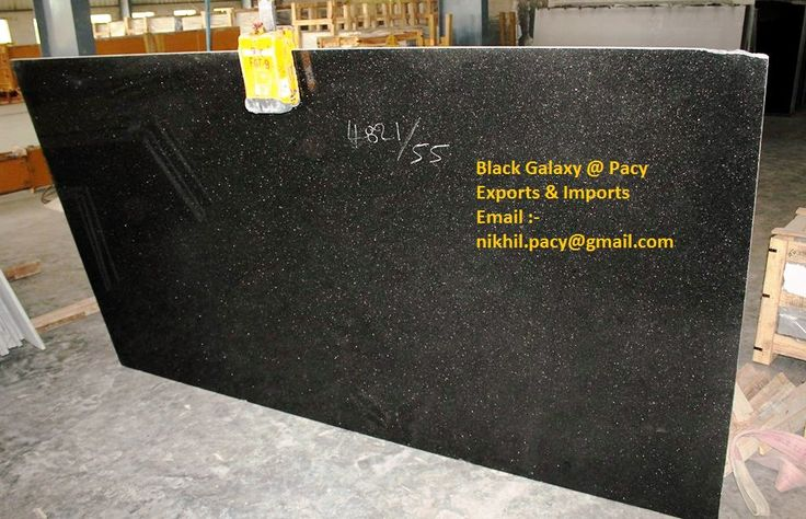 Black Galaxy Granite with Pacy Export India