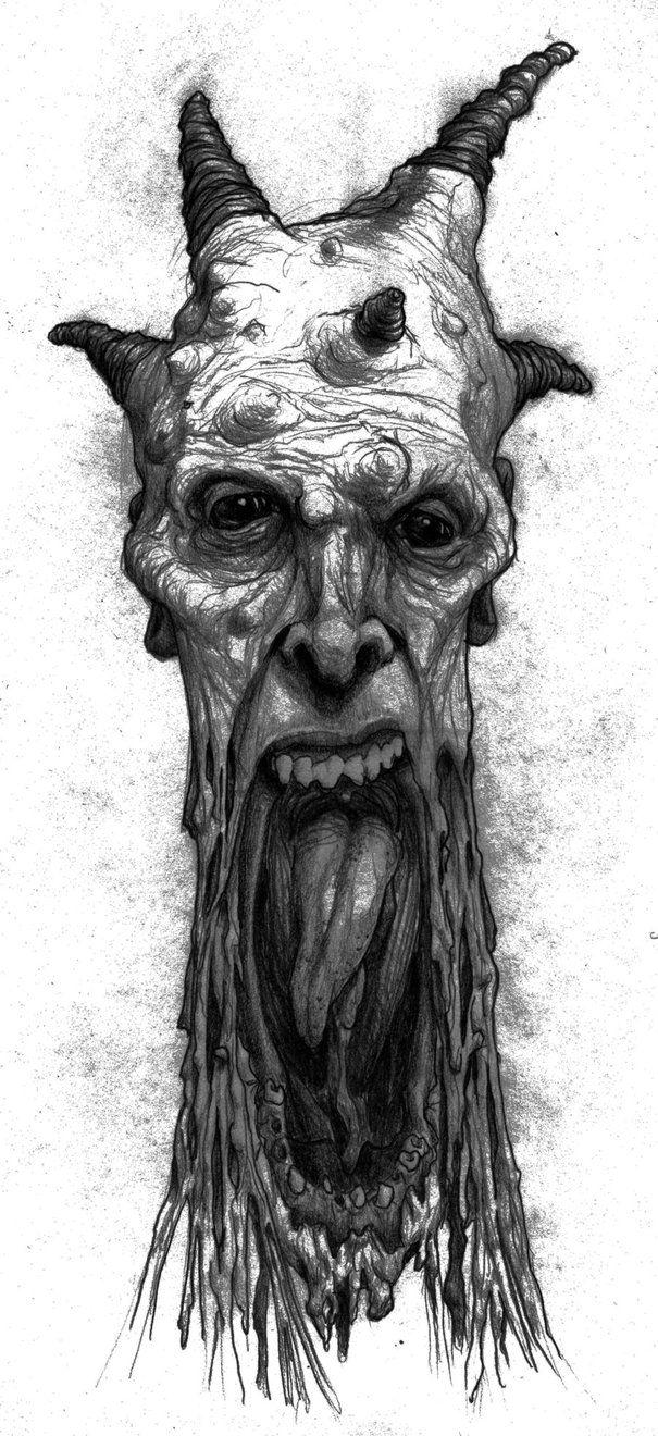 demonic pencil drawings | Melting Demon by Slogharf on DeviantArt