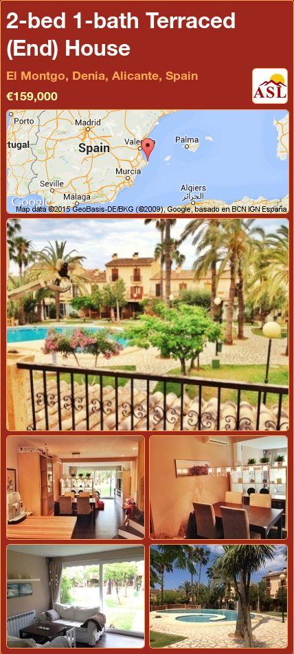 2-bed 1-bath Terraced (End) House in El Montgo, Denia, Alicante, Spain ►€159,000 #PropertyForSaleInSpain