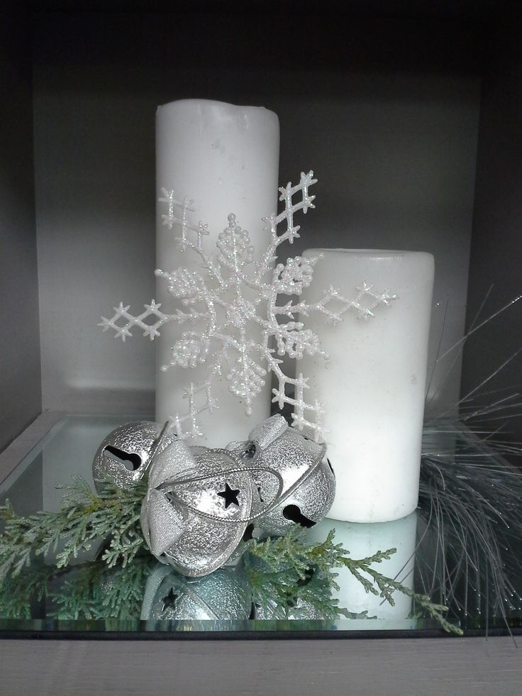Silver snowflake Decorations www.mybigdaycompa...                                                                                                                                                                                 More