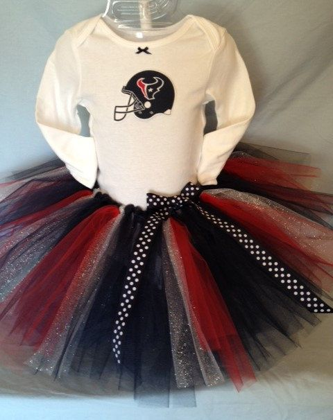 FREE SHIPPING NFL Houston Texans Tutu Cheer Dress for Baby Girls