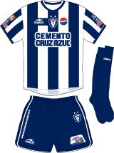 CF Pachuca of Mexico home kit for 2002-03.